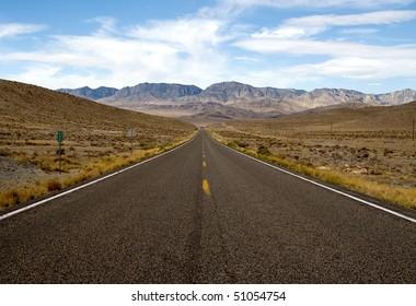 Highway 50 (The Loneliest Road) in Utah American Southwest