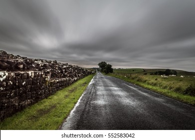 Highway along the Hadrian's Wall