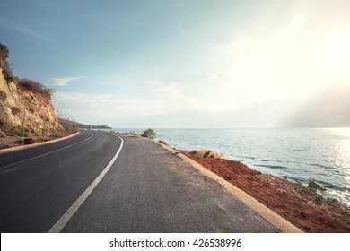 highway beside the sea