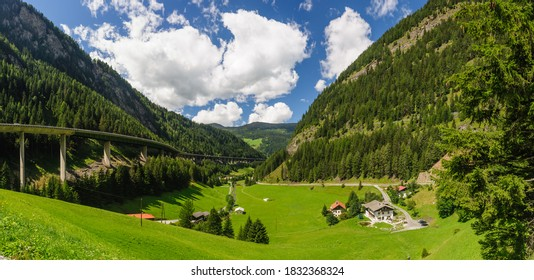 highway brenner autobahn on mountain brenner, tyrol, austria