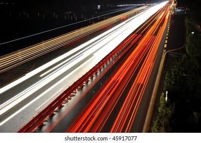 Highway by night.