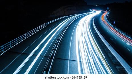 Highway car trails