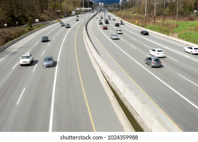 Highway with cars
