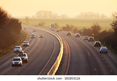 Highway with cars and Truck