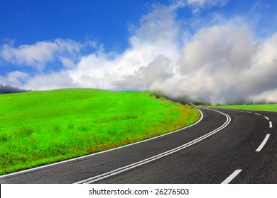 Highway in the clouds