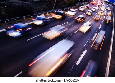 highway in evening time