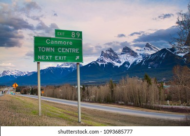 Highway Exit to Canmore