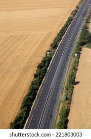 highway in farmland in france country