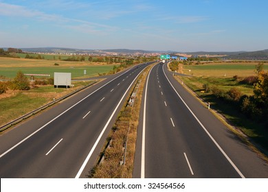 Highway with four lanes. Transportation concept.