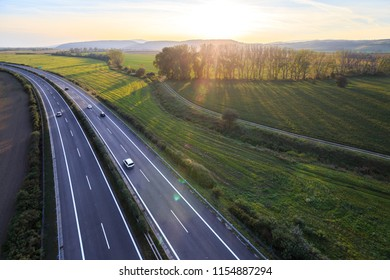 highway, freeway, traffic and photo from above