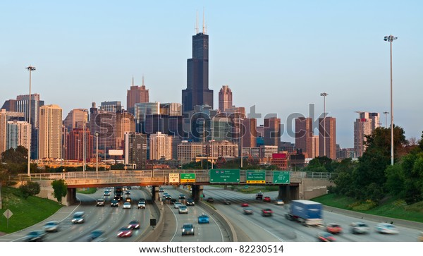 Highway I94 Heading City Chicago Stock Photo (Edit Now) 82230514