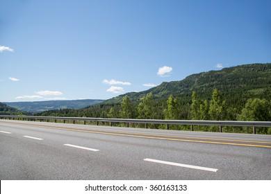 highway landscape, norway