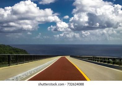 Highway in Okinawa, Japan
