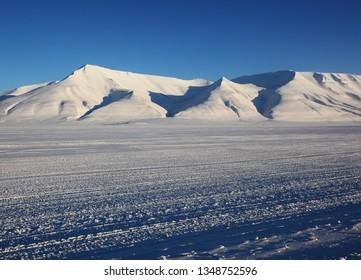 Highway on Svalbard