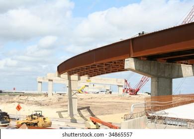 A highway overpass under construction