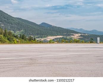 Highway parking lot in the Mediterranean