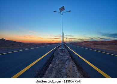 Highway Powered By Solar Lamps