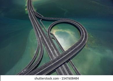 Highway road in Bali Indonesia. taken by July 2018