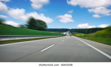 highway road with blur effect