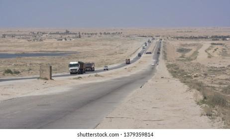 Highway road near Karbala city, Iraq