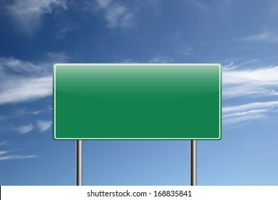 Highway road sign.