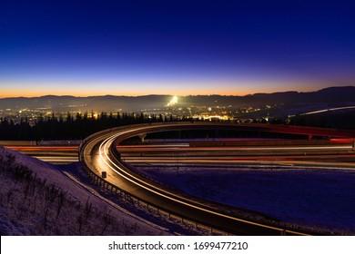 highway s10 near freistadt, austria