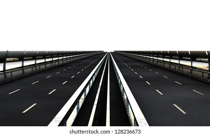 highway section isolated on white background