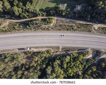 Highway seen from above