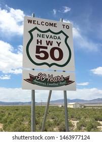 Highway  sign at Utah Border