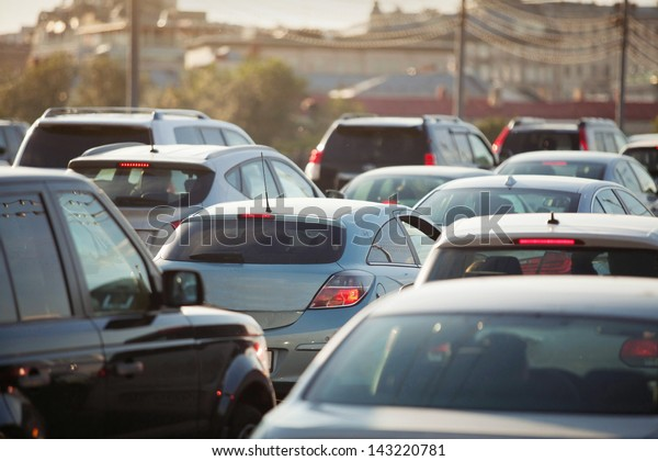 Highway Traffic Jam, cars on the road