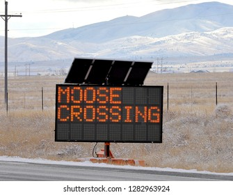 Highway warning sign