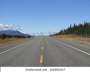 Highway Yukon 1 somewhere between Whitehorse and Kluane National Park Yukon Canada September