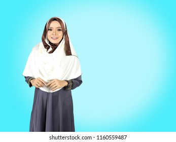 Hijab teenager with muslimah lifestyle concept