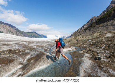 Hike in  Alaska at summertime