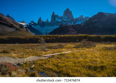 Hike to Fitz Roy mountain in El Chalten, Argentina side of Patagonia.