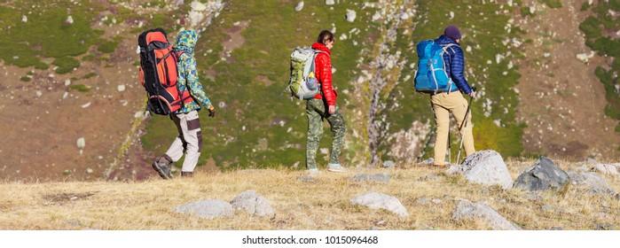 Hike in Kackar Mountains in eastern Turkey, autumn season.