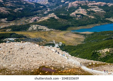 Hike near Mount Fitz Roy