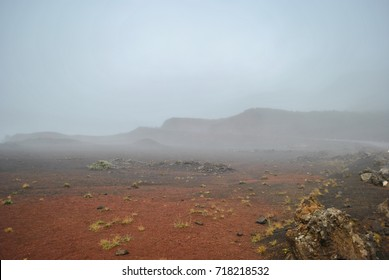 Hike to Piton de la Fournaise, active volcano, Reunion Island, France