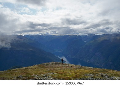 Hike up to the Prest Viewpoint overlooking the fjords  - Shutterstock ID 1533007967