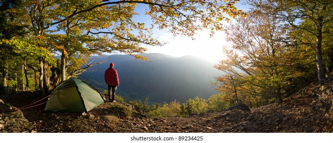 hiker at Black Forest Mountains, Germany