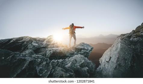 Hiker enjoys freedom