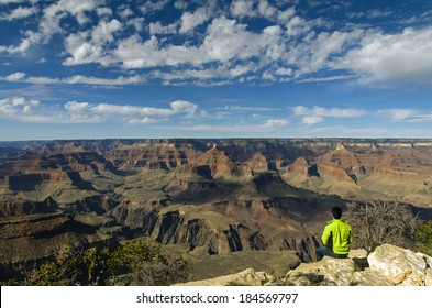 Hiker at the Grand Canyon. America / USA / Grand Canyon Background /  Las Vegas / New Mexico