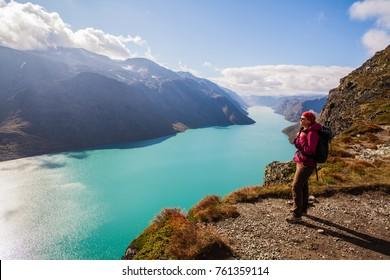 A hiker in Jotunheimen, Norway