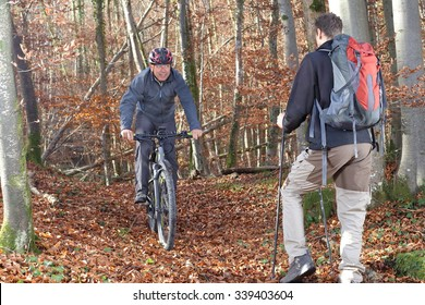 Hiker meets a mountain biker 2