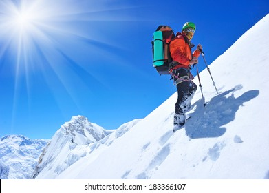 hiker in the mountain