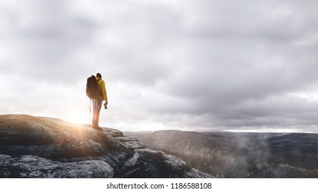 Hiker on a mountain