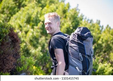 Hiker on a trail