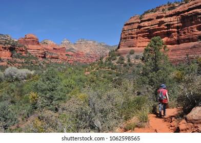 Hiker in Sedona Arizona