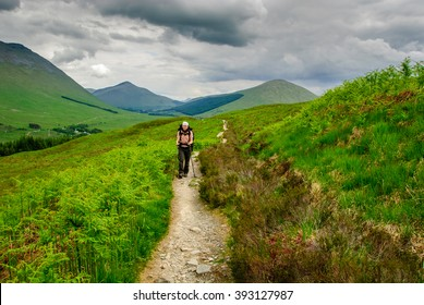Hiker West Highland Way scotland