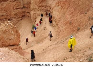 Hikers in Bryce canyon, Utah